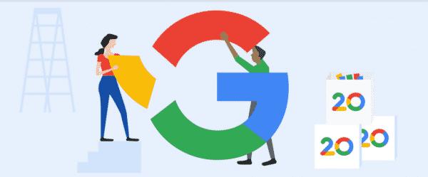Google comemora 20 anos