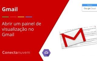 painel de visualização do Gmail